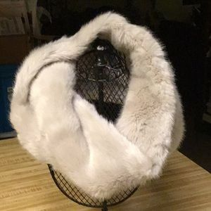 Zara Accessories - Faux Fur Cowl Off White with Tan Tint
